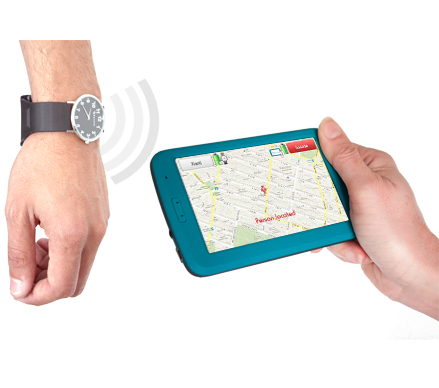 GPS Locator for people with Alzheimer. Keruve is a locator device that consists of a GPS watch and a receiver.