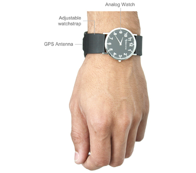GPS watch for man with blue strap and white dial