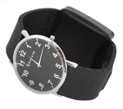 GPS watch for man with black strap and black dial